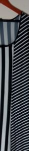 Just Love Black White Stripe Maxi Dress 1X Plus